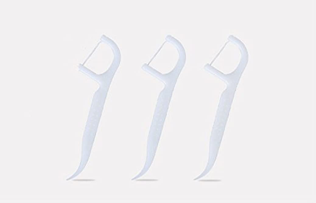 ノーブル換気学期極細デンタルフロススティック、弓形爪楊枝ライン、フロススティックファミリーパック、個別に包まれたフロス