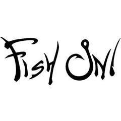 Fish On デカール ステッカー ブラック 5.5インチX2.5インチ 釣り道具 バス トラウト...