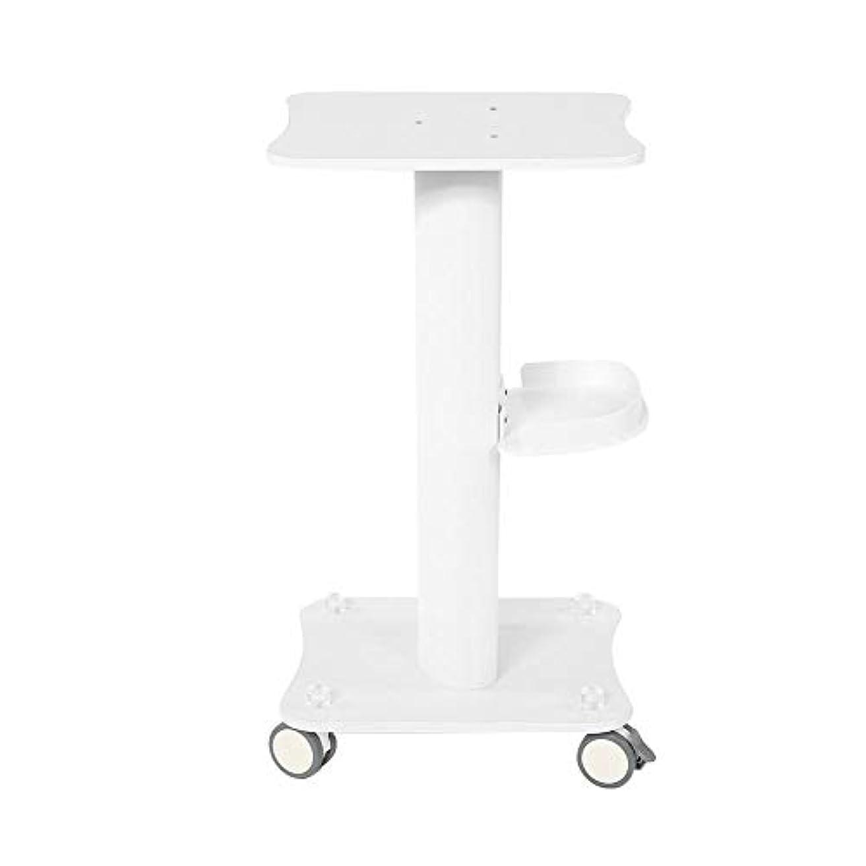 美容院のトロリー、実用的なトロリーサロンは台座の圧延のカートの車輪のヘアーサロンのためのアルミニウム立場の皿を使用します