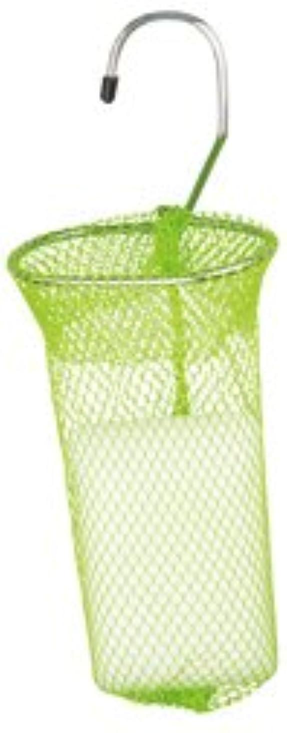 輝くもっともらしい秘密の石けんネット リングタイプ 10枚組 グリーン