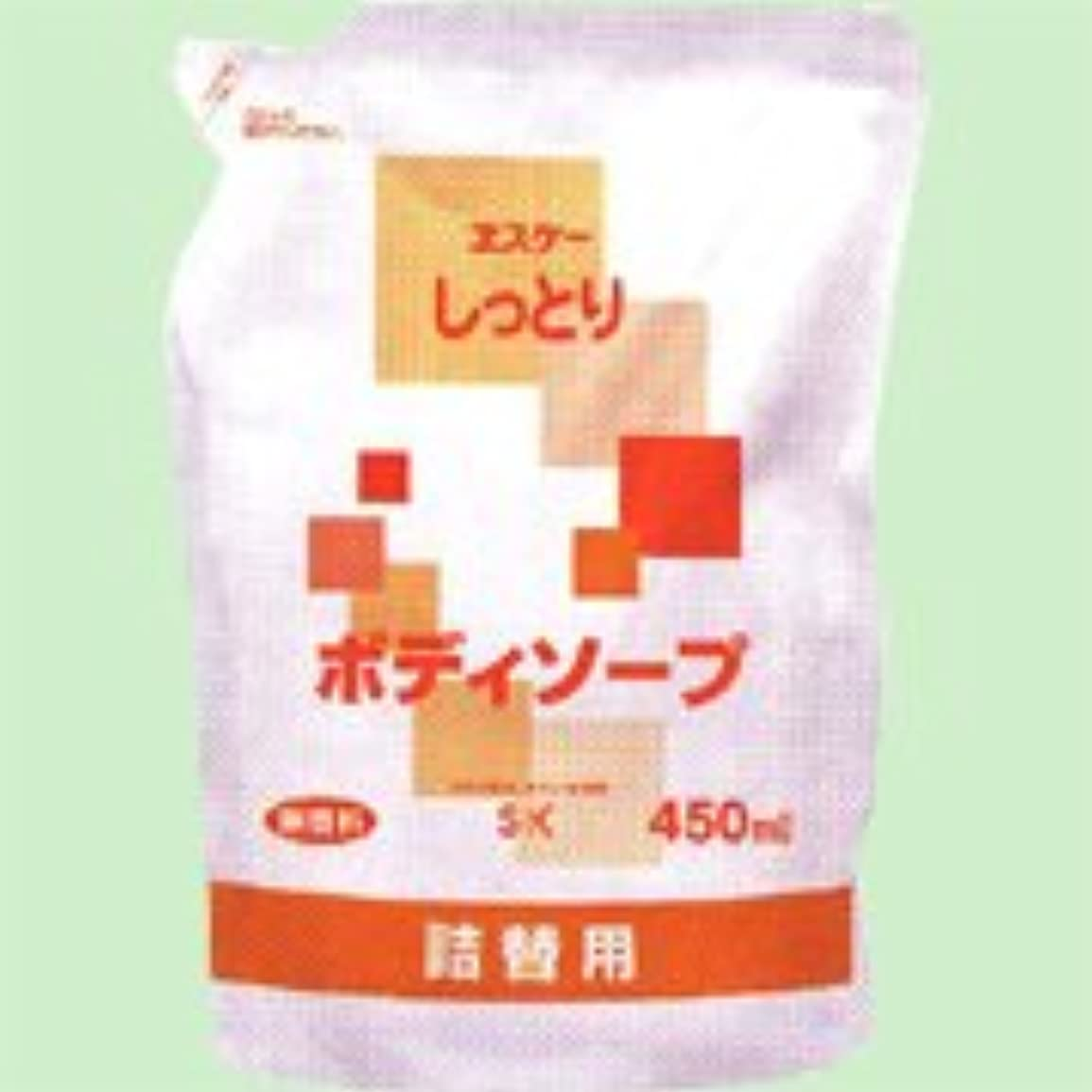 トレッドヒューム統計しっとりボディソープ詰替用 450ml   エスケー石鹸