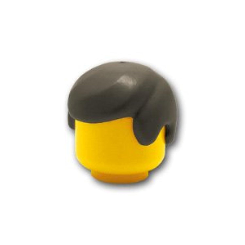 レゴミニフィグパーツ ヘア - メンズ(七三分け):[Dark Gray / ダークグレー(旧色)]【並行輸入品】