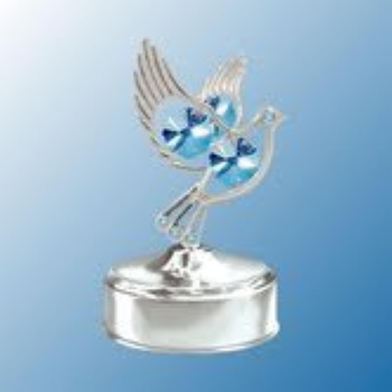 クロムメッキDove音楽ボックス。。。。WithブルーAustrian Crystals