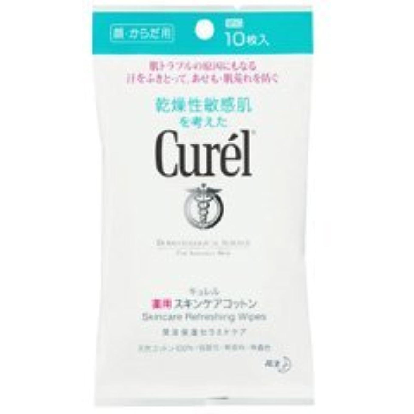 裸から製品【花王】キュレル 薬用スキンケアシート (10枚) ×5個セット