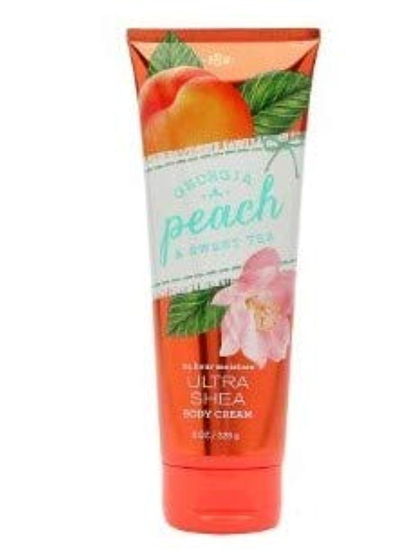 フォアマン蚊気づく【Bath&Body Works/バス&ボディワークス】 ボディクリーム ジョージアピーチ&スイートティー Body Cream Georgia Peach & Sweet Tea 8 oz / 226 g [並行輸入品]