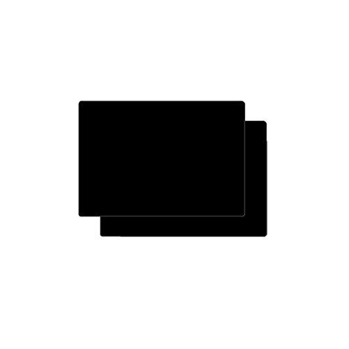 Eshinny シリコン ランチョンマット テーブルマット 断熱 撥水 防汚 耐熱温度230℃ ブラック, 2