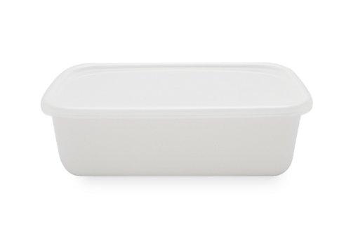 野田琺瑯 ホワイトシリーズ レクタングル 深型 M