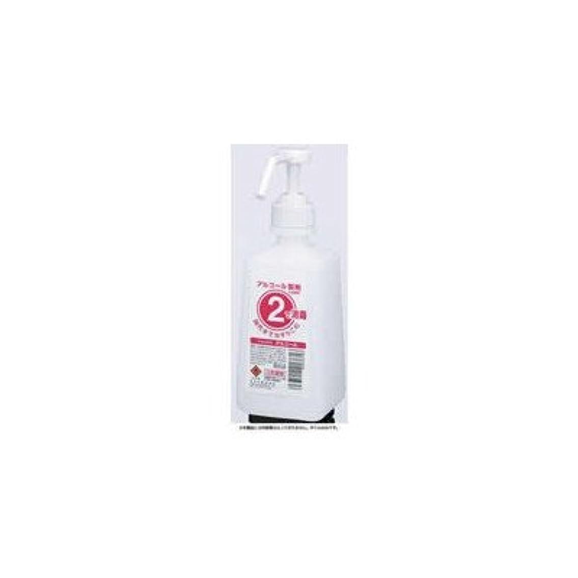 人道的コンパス金属アルコール消毒用2ボトル 1Lタイプ サラヤ 2ボトル 噴射ポンプ付 手指消毒剤用 薬液詰替容器 500ml×12本