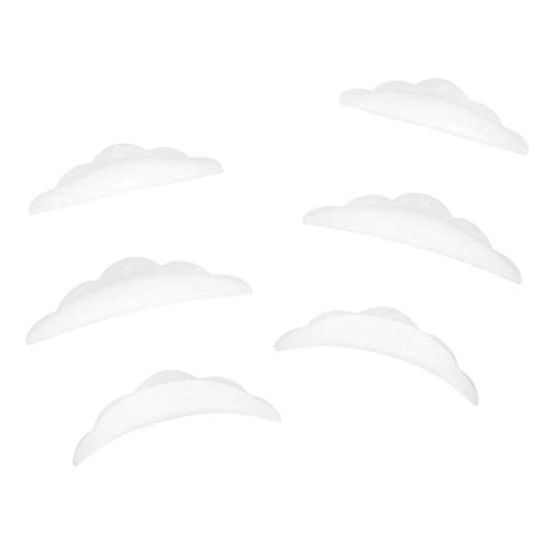 操作ゆるく属する3ペア ラッシュリフトパーマ カーラーパッド 再利用可 柔らかい シリコン 快適