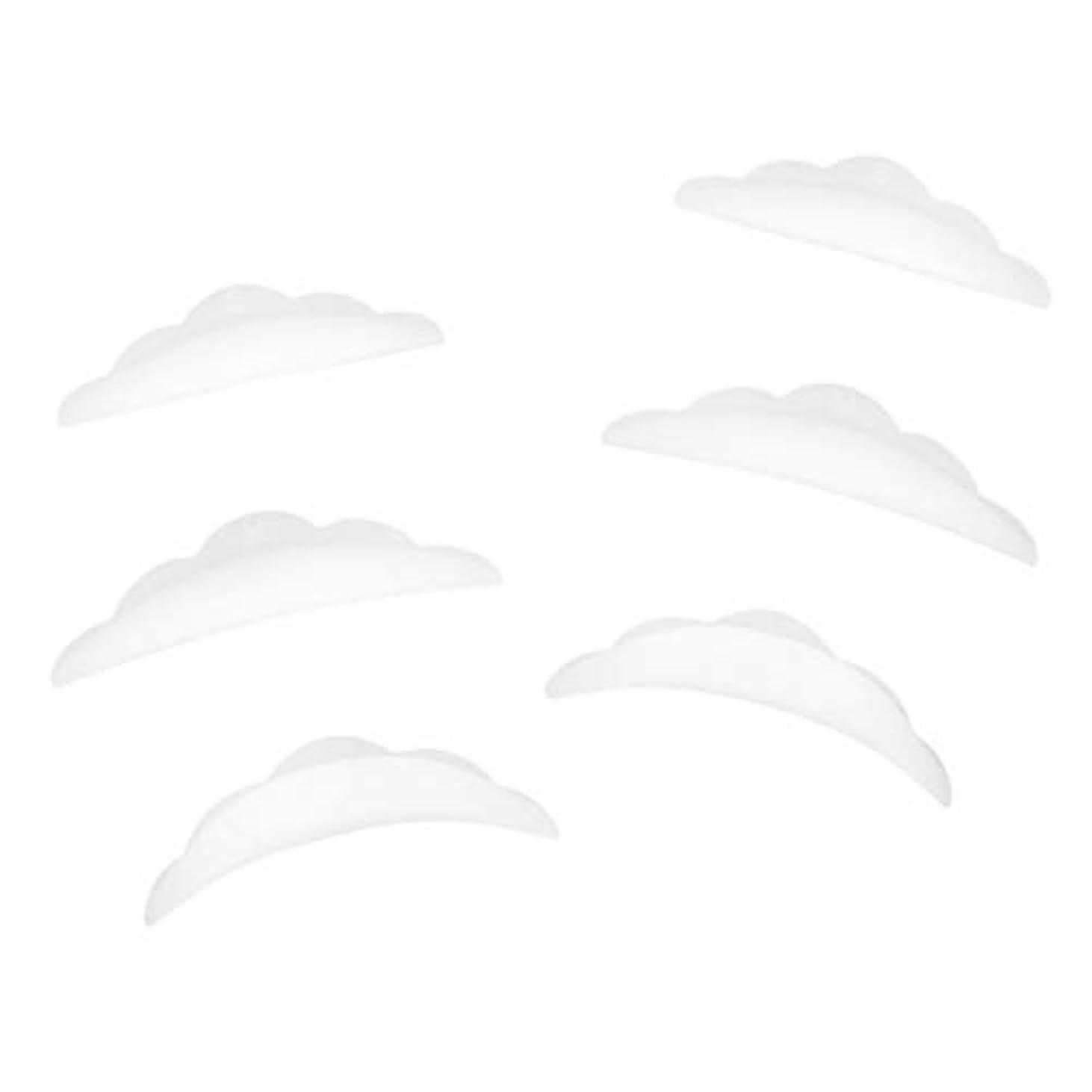 卒業エトナ山鎮痛剤3ペア ラッシュリフトパーマ カーラーパッド 再利用可 柔らかい シリコン 快適