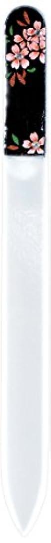 橋本漆芸 ブラジェク製高級爪ヤスリ スワロフスキー桜 紙箱