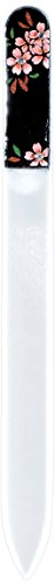 一時的愛されし者アーティスト橋本漆芸 ブラジェク製高級爪ヤスリ スワロフスキー桜 紙箱