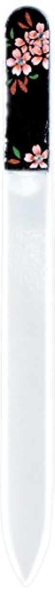 十伴う陰気橋本漆芸 ブラジェク製高級爪ヤスリ スワロフスキー桜 紙箱