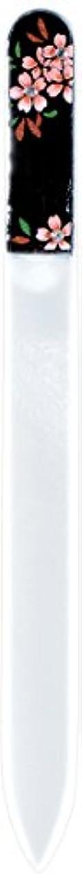 海藻回転介入する橋本漆芸 ブラジェク製高級爪ヤスリ スワロフスキー桜 紙箱