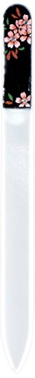区皮肉な珍味橋本漆芸 ブラジェク製高級爪ヤスリ スワロフスキー桜 紙箱