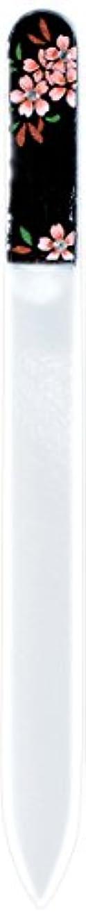 おじさんハシー似ている橋本漆芸 ブラジェク製高級爪ヤスリ スワロフスキー桜 紙箱