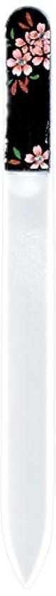 恐ろしいです俳句委託橋本漆芸 ブラジェク製高級爪ヤスリ スワロフスキー桜 紙箱