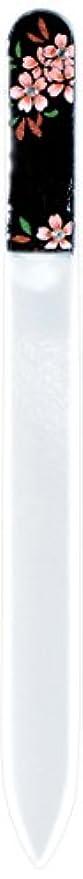 石の決定する単語橋本漆芸 ブラジェク製高級爪ヤスリ スワロフスキー桜 紙箱