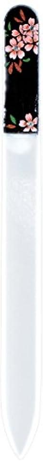 目の前のレンド核橋本漆芸 ブラジェク製高級爪ヤスリ スワロフスキー桜 紙箱