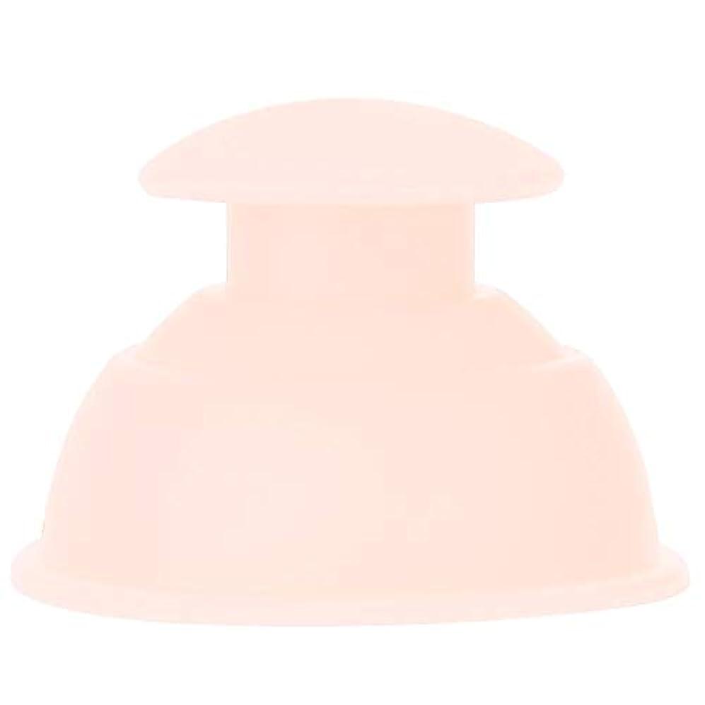 7種類のカッピングカップマッサージセット、シリコーン水分吸収剤アンチセルライトバキュームによる 全身疲れの緩和(ライトピンク)