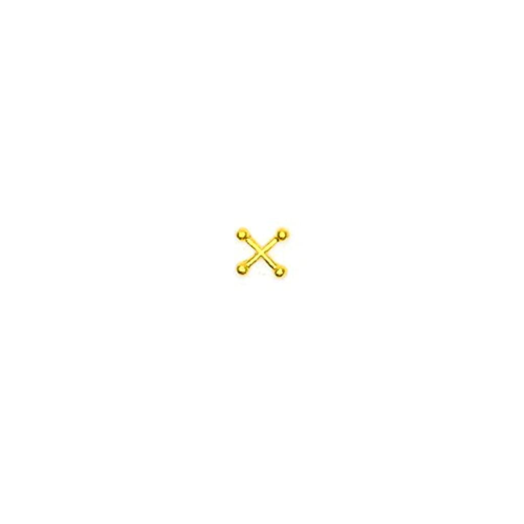 保安嫌な不潔ボディピアスパーツ クロス/ゴールド