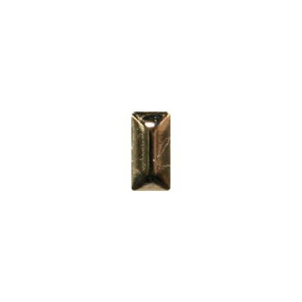 放映オーディション余計なピアドラ スタッズ メタル長方形 2×4mm 50P ゴールド