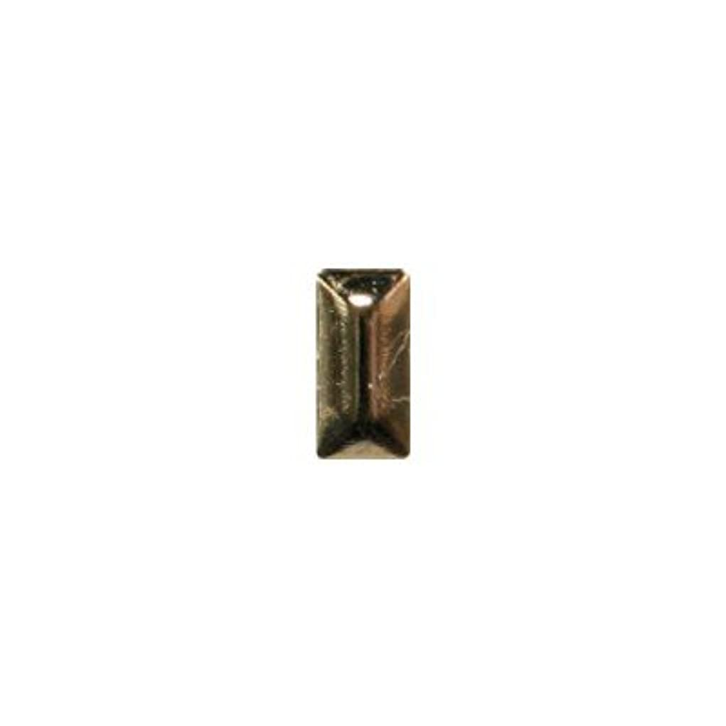 夜明けパイプ接辞ピアドラ スタッズ メタル長方形 2×4mm 50P ゴールド