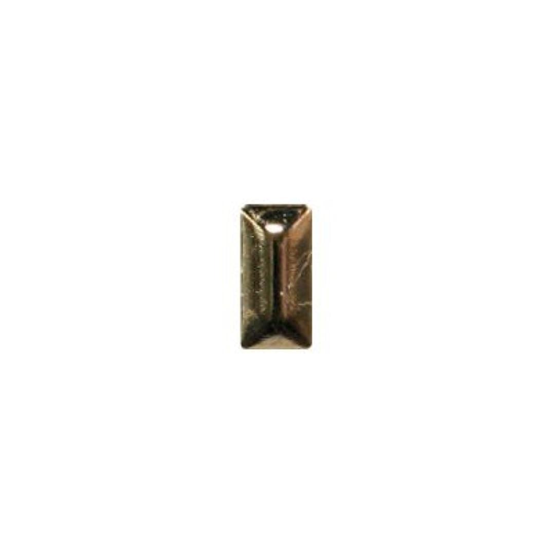 切る織るコールドピアドラ スタッズ メタル長方形 2×4mm 50P ゴールド