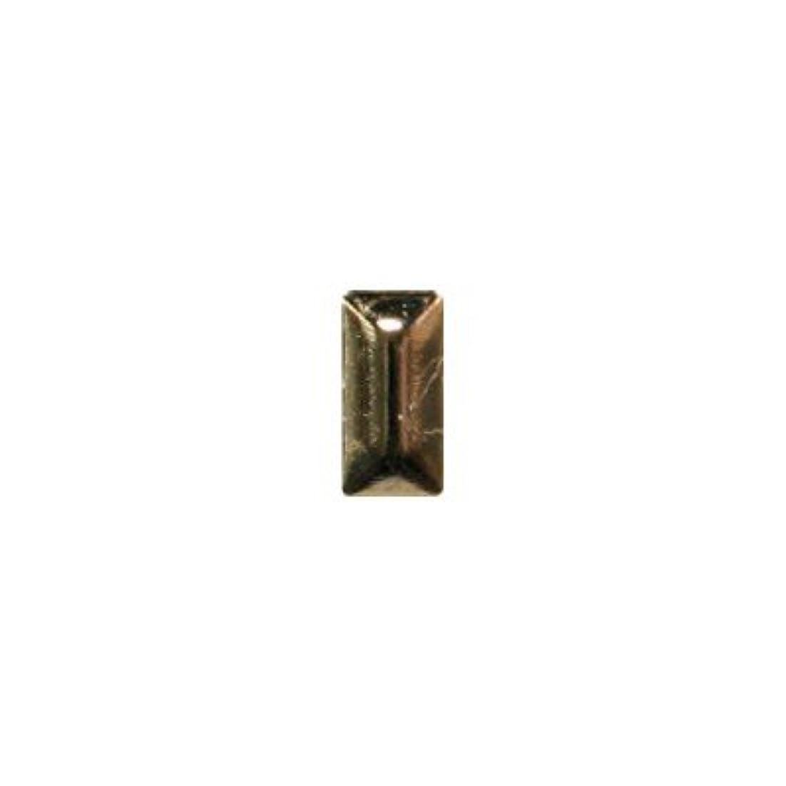 乱れ増強する正義ピアドラ スタッズ メタル長方形 2×4mm 50P ゴールド