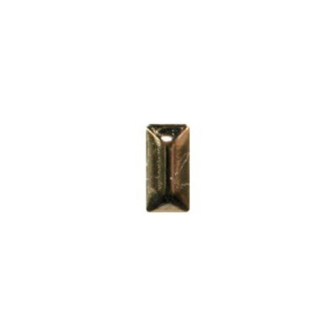ドナー解決する勤勉なピアドラ スタッズ メタル長方形 2×4mm 50P ゴールド