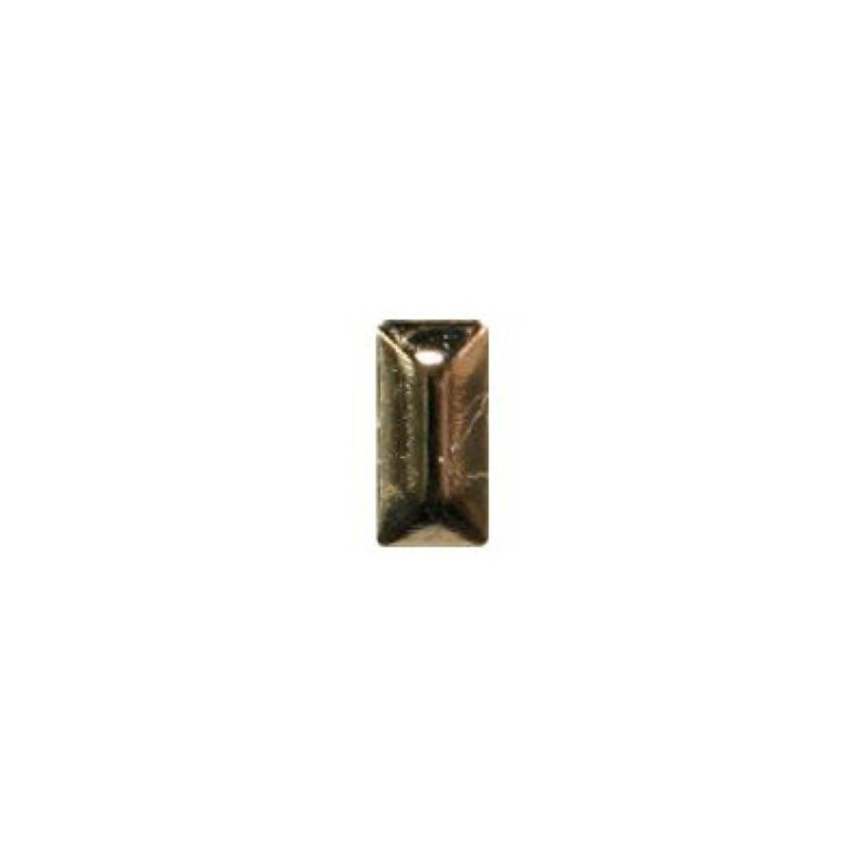 習字解決不十分なピアドラ スタッズ メタル長方形 2×4mm 50P ゴールド