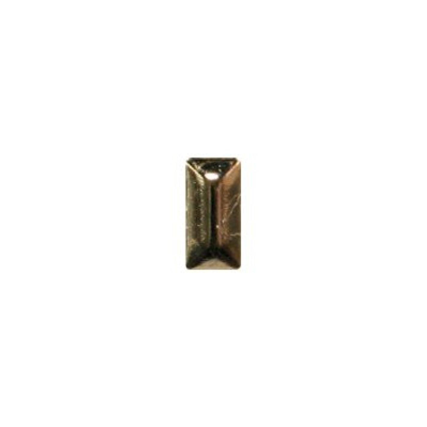 嫉妬震える沈黙ピアドラ スタッズ メタル長方形 2×4mm 50P ゴールド