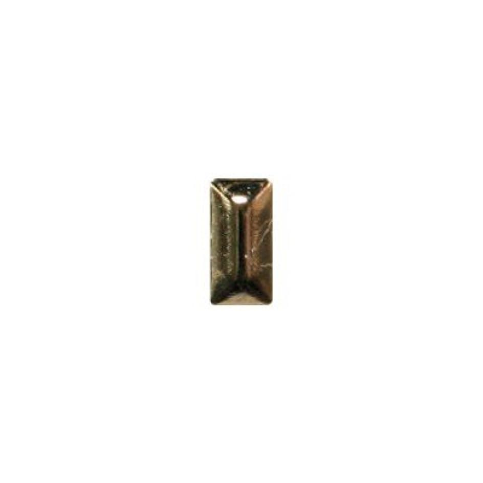 ファイルいっぱい創傷ピアドラ スタッズ メタル長方形 2×4mm 50P ゴールド