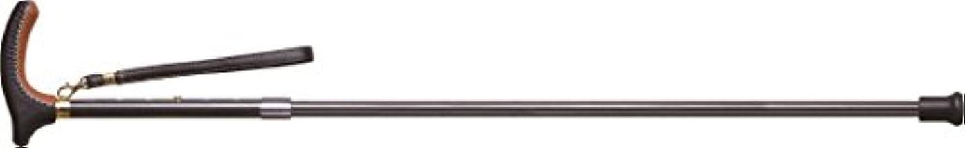 みがきます赤道和キザキ 日本製 軽量カーボン 本革巻き グリップステッキ KSAB-LG2101C クロスブラック