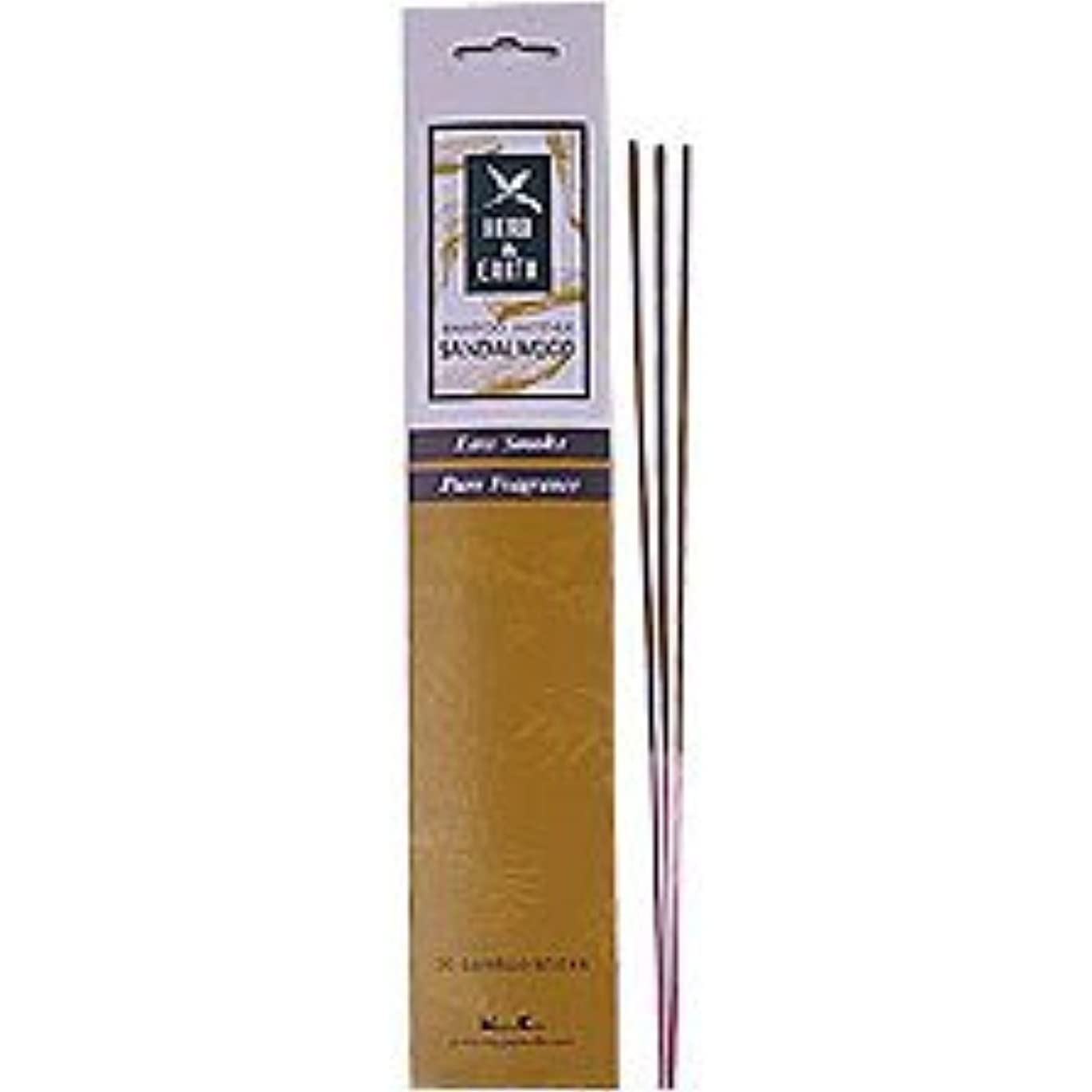 埋め込む行方不明準拠Sandalwood - Herb and Earth Incense From Nippon Kodo - 20 Stick Package by Herb & Earth [並行輸入品]
