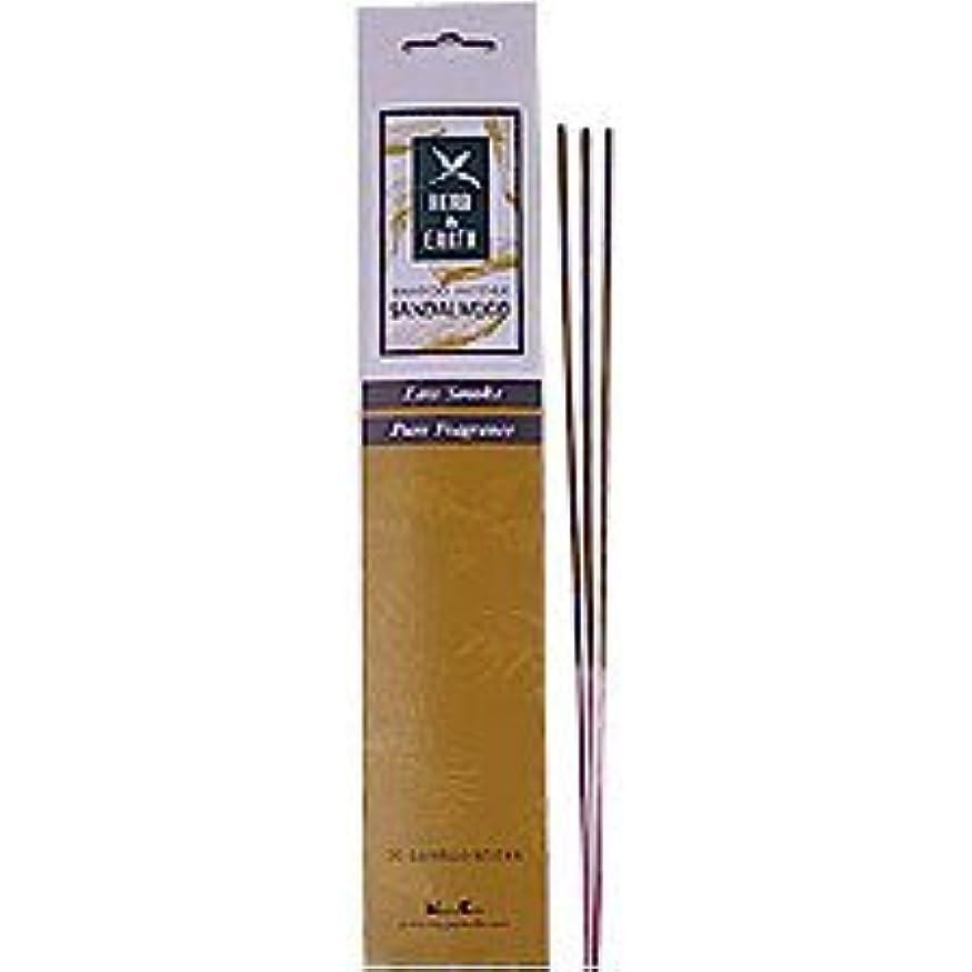 写真を描く起こりやすい開始Sandalwood - Herb and Earth Incense From Nippon Kodo - 20 Stick Package by Herb & Earth [並行輸入品]