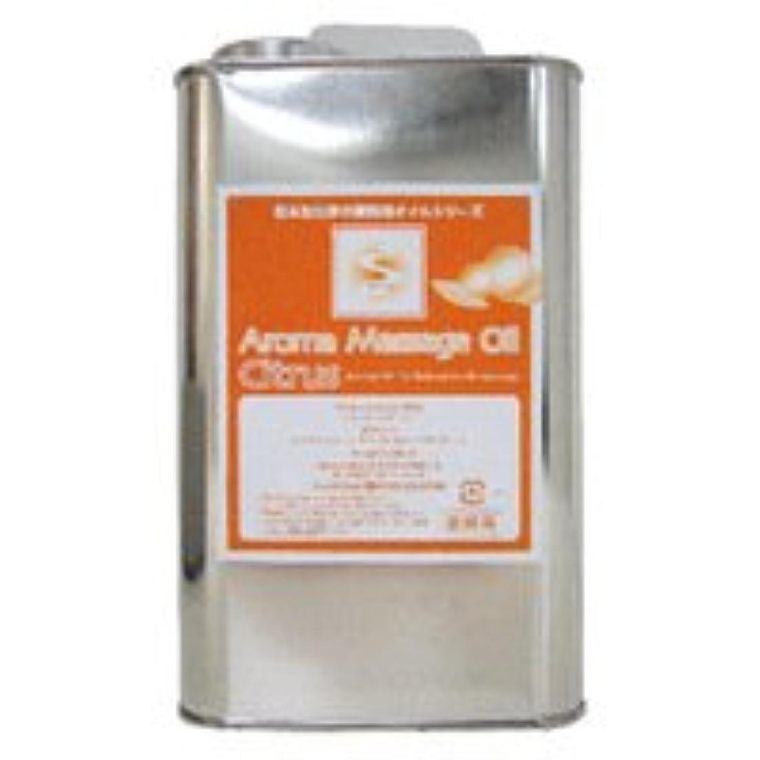 ゴミ箱縫い目コーナー業務用 アロママッサージオイル 1000ml / シトラス