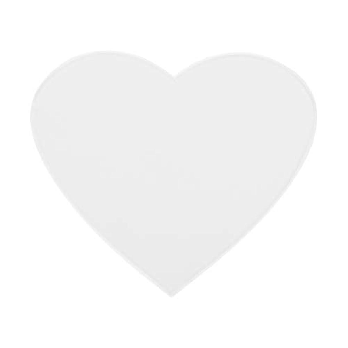密フラフープ政令アンチリンクルシリコンチェストパッドケア再利用可能パッド(心臓)