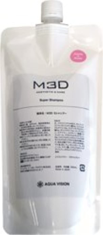 過敏な目指すつかまえるM3D スーパーシャンプー アップルローズ 詰め替え用リフィル 500ml