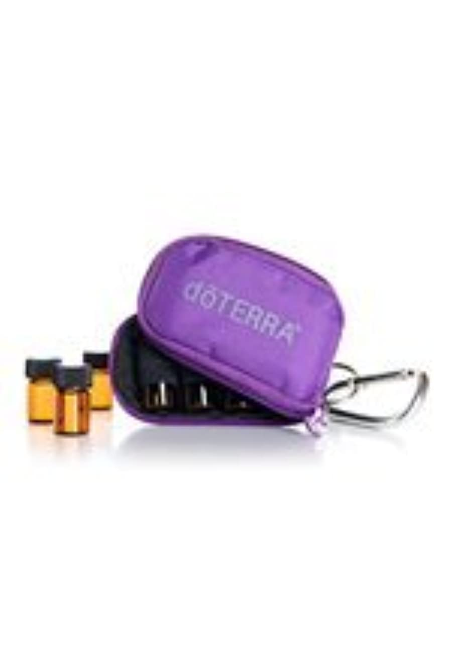 接ぎ木必需品単語doTERRAドテラ ミニ ボトル ケース パープル ミニボトル 2ml 8本 精油 エッセンシャルオイル 携帯ケース ポーチ