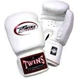 Twins ボクシンググローブ 本革製 16オンス ホワイト