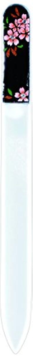 ではごきげんよう電気的取り消す橋本漆芸 ブラジェク製高級爪ヤスリ スワロフスキー桜 OPP