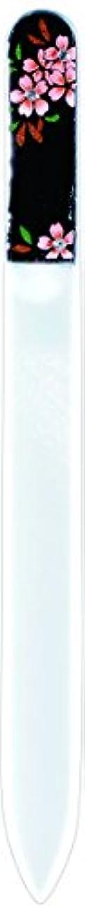 リング背の高いファッション橋本漆芸 ブラジェク製高級爪ヤスリ スワロフスキー桜 OPP