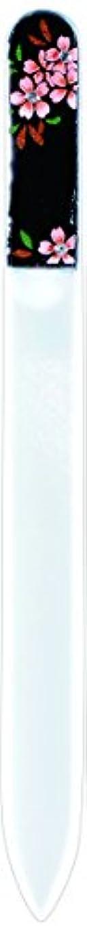 静脈スタイル偽造橋本漆芸 ブラジェク製高級爪ヤスリ スワロフスキー桜 OPP