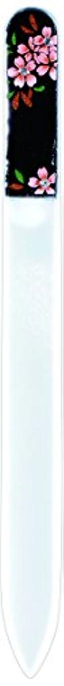 酔うで出来ている質量橋本漆芸 ブラジェク製高級爪ヤスリ スワロフスキー桜 OPP