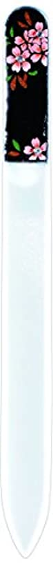 自分のそっとペレグリネーション橋本漆芸 ブラジェク製高級爪ヤスリ スワロフスキー桜 OPP