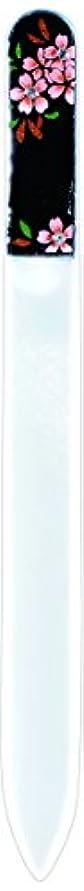 欠伸かすれた化学者橋本漆芸 ブラジェク製高級爪ヤスリ スワロフスキー桜 OPP
