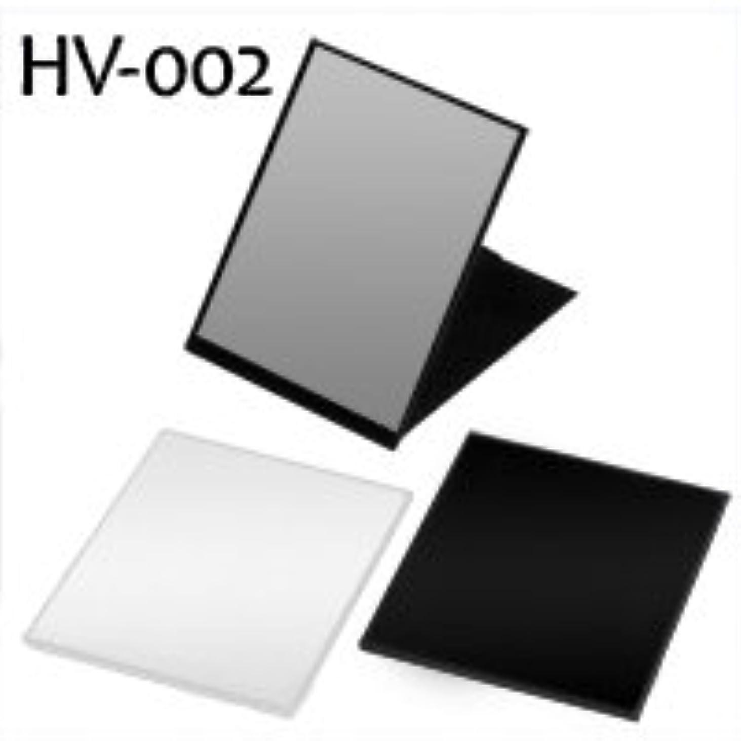 メガロポリス気難しいこっそりハイパービュースリム&ライトコンパクトミラー(L) HV-002 ブラック