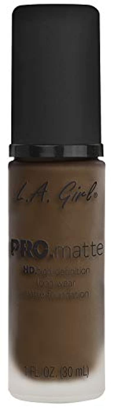 ボット朝食を食べる想像力L.A. GIRL Pro Matte Foundation - Chestnut (並行輸入品)