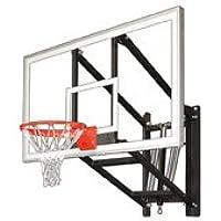 最初チームwallmonster Supreme steel-acrylic調節可能な壁マウントバスケットボールsystem44 ;ゴールド